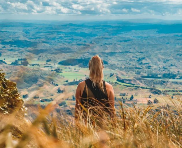 The view from the lookout on the Rangiwahia Track makes the walk worth it.