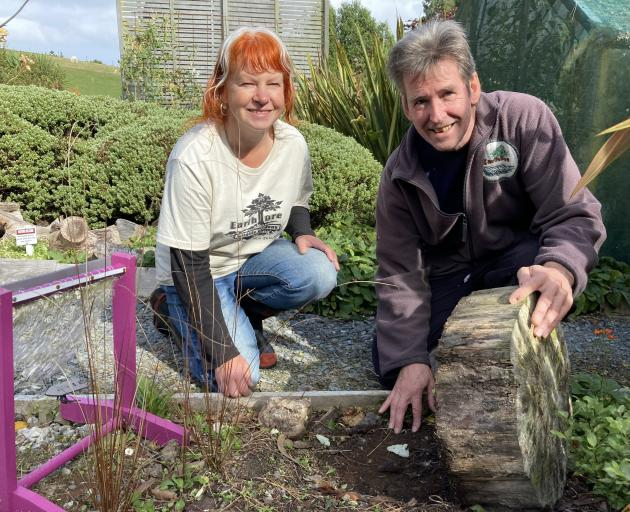 Janine and Gordon Thompson, of Earthlore insect sanctuary, near Owaka, in the Catlins.PHOTO: MARY...