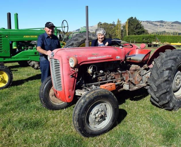 John and Neroli Stalker, of Lincoln, inspect a Massey Ferguson 35 tractor ahead of the clearing...