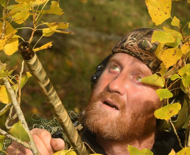 Duck-shooter Tim Cossens will be looking to the skies for his next meal when the season starts...