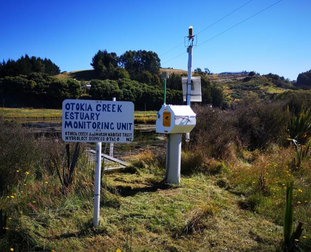 A water monitoring unit set up and owned by Matthew York of Hydrology Services Otago. PHOTO:...