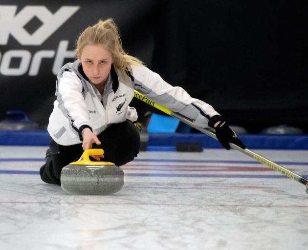 Anton Hood (below) and Courtney Smith compete for New Zealand at the 2019 Winter Games in Naseby....