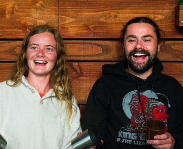 Siblings Leah and Mati Gourlay at their new cafe, Hustl, at Queenstown Central. Photo: Mountain Scene