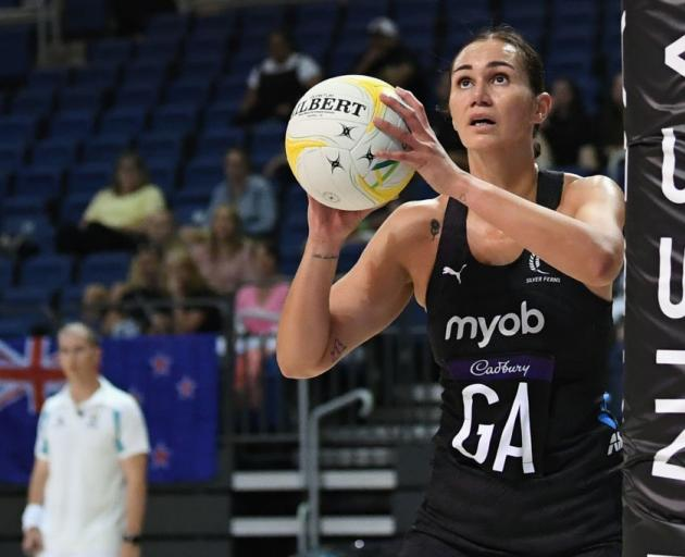 Ameliaranne Ekenasio during the recent Constellation Cup series for the Silver Ferns. Photo:...