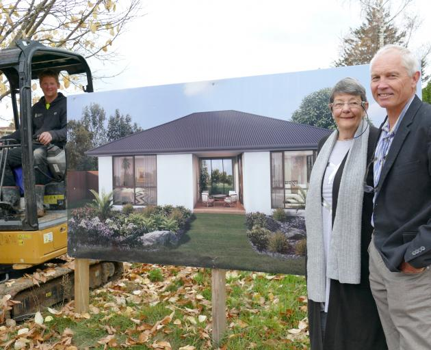Tuapeka Community Health Incorporated chairman Mark Hay (right) and first property buyer Rosemary...