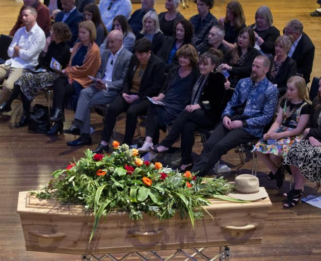The funeral for former Dunedin mayor Dave Cull was held at the Dunedin Town Hall yesterday. PHOTO...