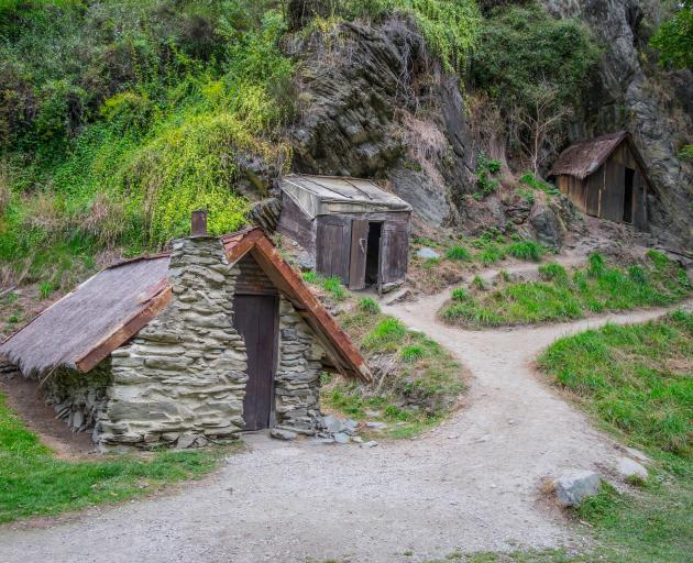 Part of the reconstructed Chinese Settlement near Arrowtown. Photo: Getty Images.