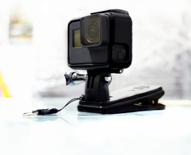 The activity he captured was stored in the GoPro's memory card which was then streamed to his cell phone. Photo: Getty Images