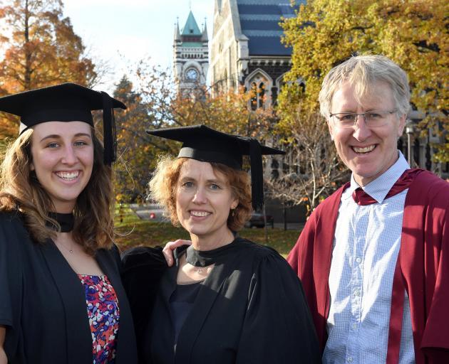 Prof James Higham, of the University of Otago tourism department, his daughter Ali Higham (22)...