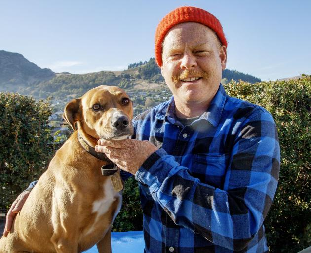 Shay Horay and his dog Riley. Photo: Geoff Sloan