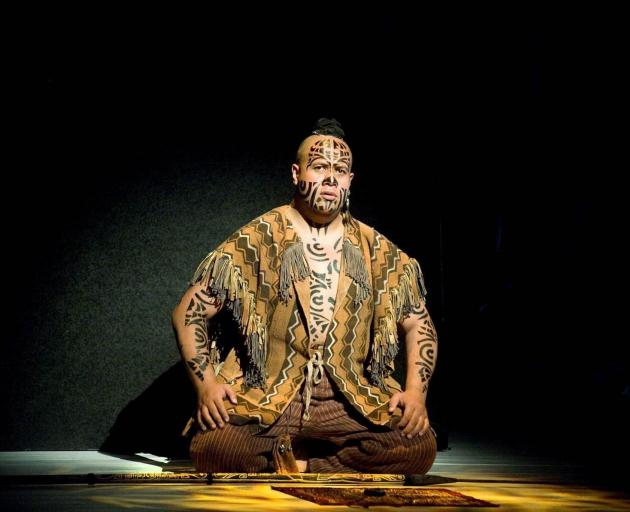 Jonathan Lemalu performs as Queequeg in Jake Heggie's operatic adaptation of Melville's Moby Dick...
