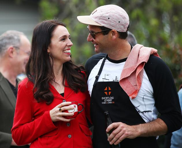 Jacinda Ardern and Clarke Gayford in Auckland just after the 2017 general election. Photo: Getty