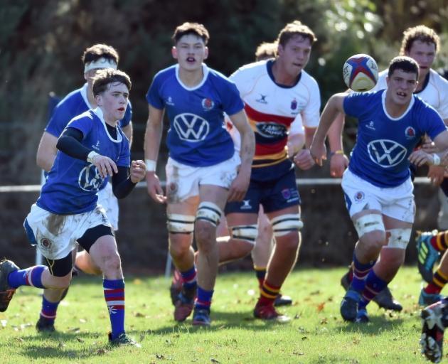 Southland Boys' faced John McGlashan earlier this week. Photo: PETER MCINTOSH