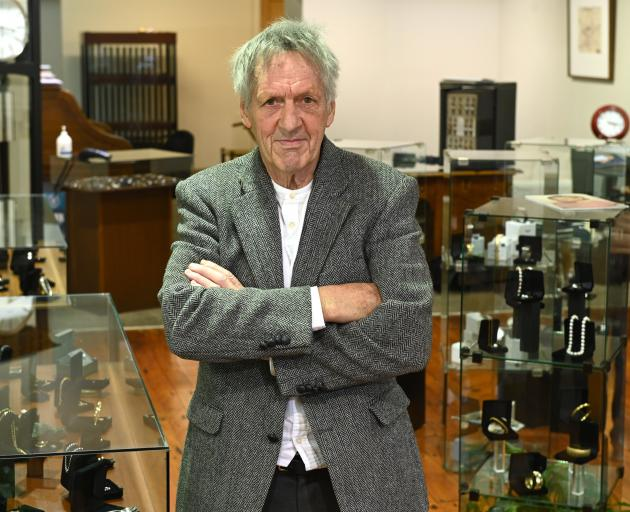 Outgoing Masters Games chairman John Bezett takes a break at his jewellery shop this week. PHOTO:...
