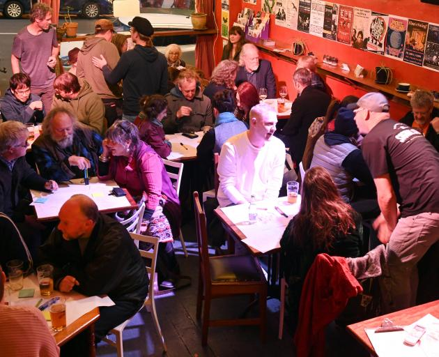 About 50 people attended a forum at Dog With Two Tails on Saturday to discuss how noise control...