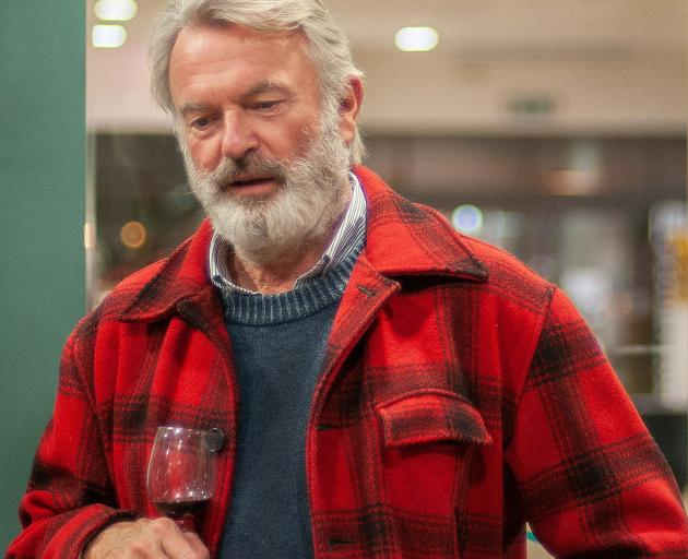 Sam Neill addresses the room at Central Cinema in Alexandra on Thursday night. He was attending a...