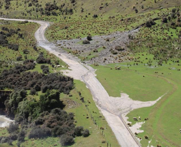 Danseys Pass was left a mess from floods in January. PHOTO: WAITAKI DISTRICT COUNCIL