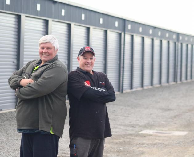 Oamaru Self Storage owner Lance Greaney (left) and Foleys senior plumber and gas fitter Tom...