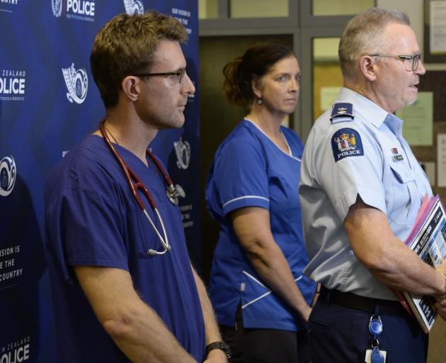 Southern DHB emergency department clinical director Dr Richard Stephenson, nursing lead Janet...
