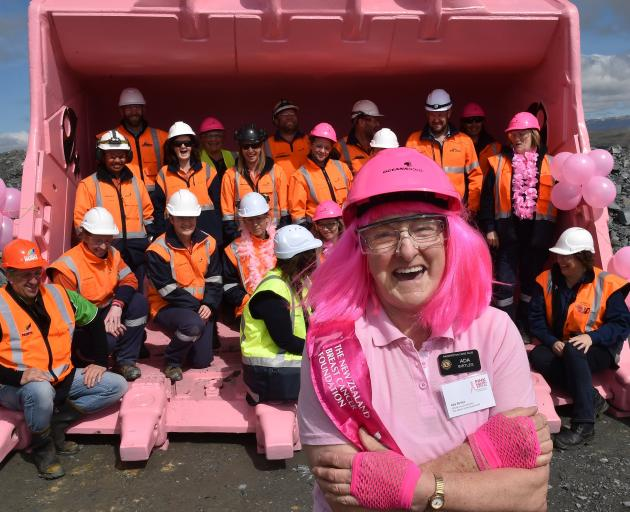 Ada Birtles (73) fronted the Palmerston Lions Club's 2019 Pink Ribbon Appeal just a year before...