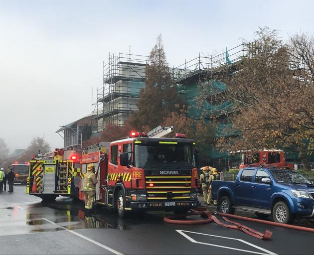 Crews from Dunedin Central, Willowbank, and Roslyn were called to deal with the fire at the...