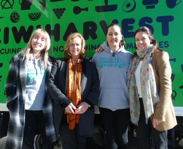 Celebrating the official opening of the Queenstown branch of KiwiHarvest are (from left) manager...