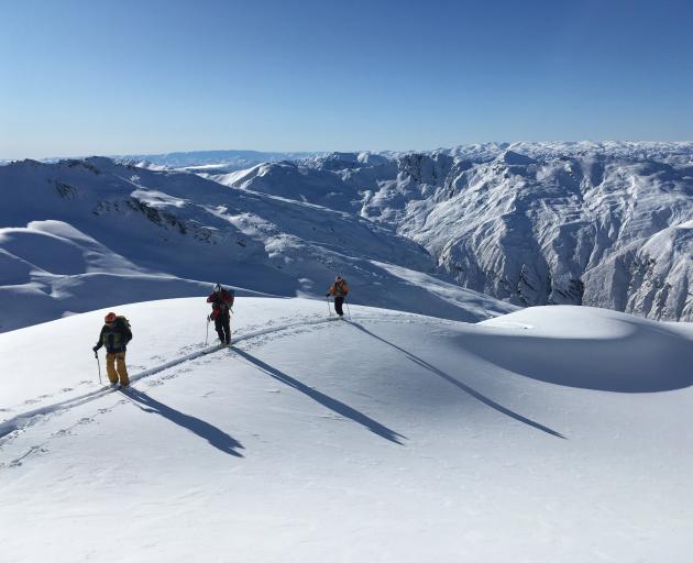 Ski tourers on the Mahu Whenua Traverse last winter. PHOTOS: SUPPLIED