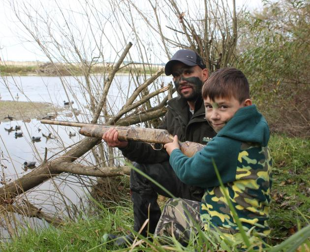 Taking his son Leo Costa (9) duck-shooting for the first time was an emotional and proud moment...
