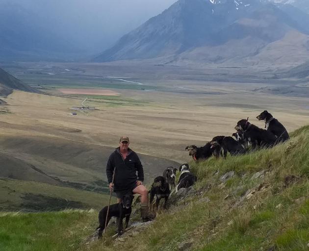 Omarama farmer and seasoned dog triallist Scott Hunter has three dogs qualified to run at next...