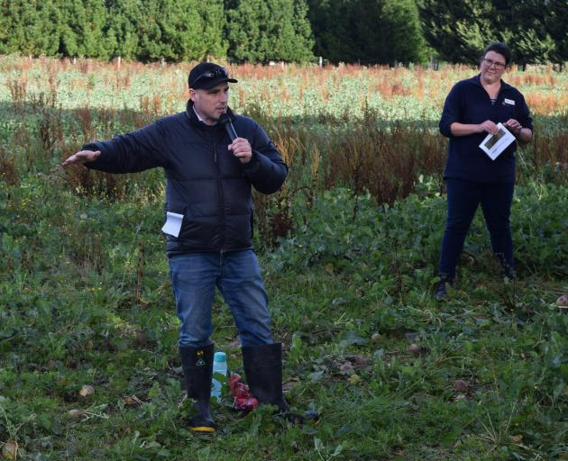Beef + Lamb New Zealand environment capability manager Tom Orchiston and Otago Regional Council...