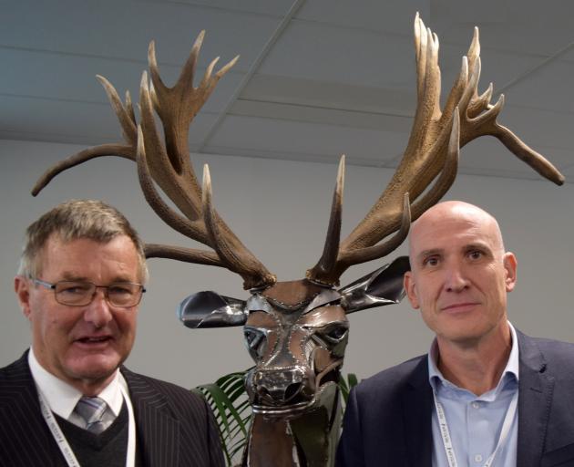 Deer Industry New Zealand board chairman Ian Walker (left) and chief executive Innes Moffat gave...