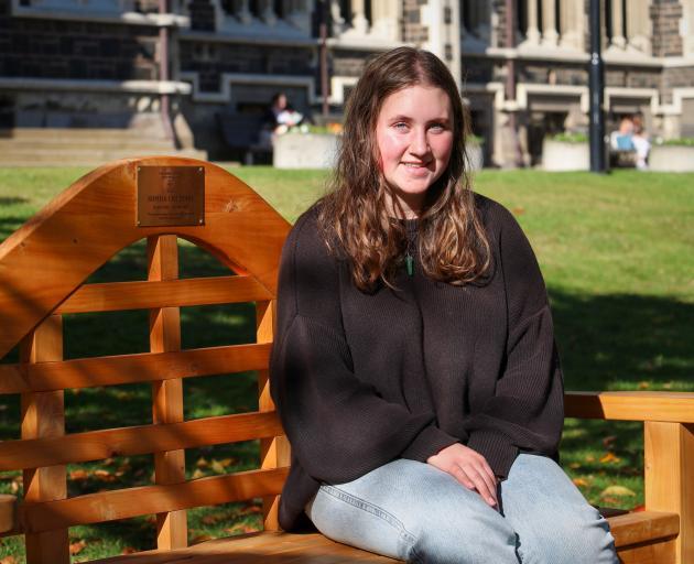 University of Otago student Emilia Haszard received the first Sophia Michelle McMillan Crestani...