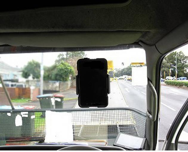 This tablet was blocking the view of a driver who hit an elderly woman. Photo: Supplied