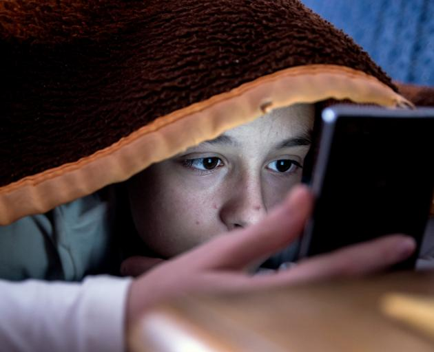 There are fears about teens staying up all night using their phones and being tired and...