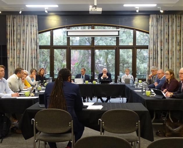 Lawyer James Gardner-Hopkins, speaking on behalf of several Cardrona residents, makes a...