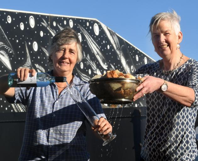 Jenny McDonald (left) and Sue Stockwell are distilling gin from waste bread destined for the...