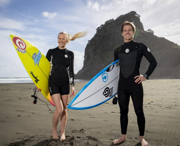 Ella Williams and Billy Stairmand will be the first New Zealanders to surf at the Olympic Games....