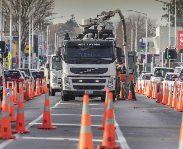 Three contracting companies will be working on 18 different projects along Riccarton Rd and the...