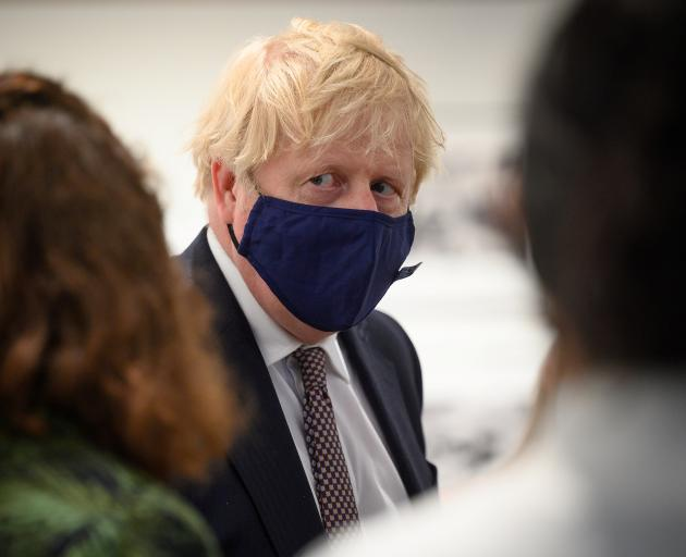 British Prime Minister Boris Johnson in Falmouth ahead of the start of the G7 Summit on Friday....