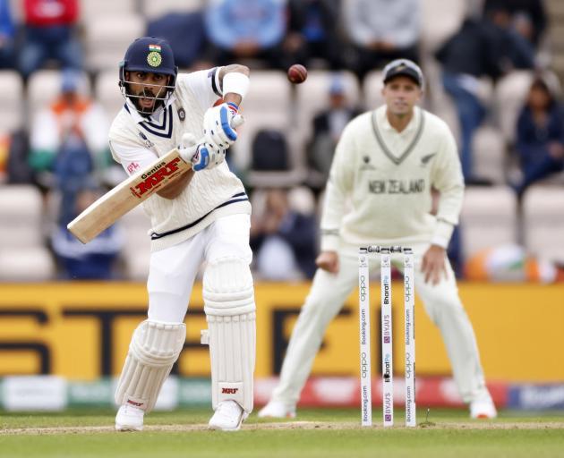 Skipper Virat Kohli had raised 58 runs with Ajinkya Rahane when the players were forced off amid...