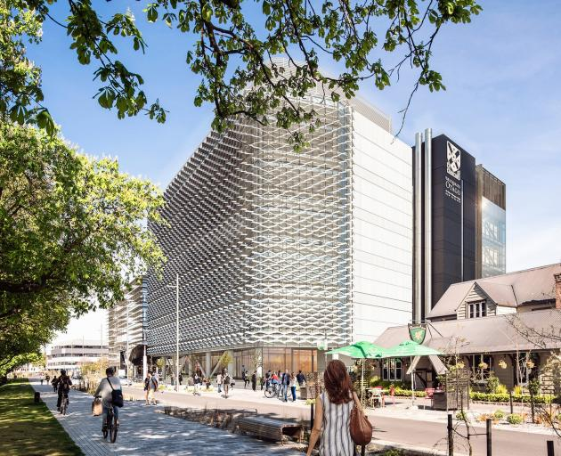 An artist's impression of the University of Otago building in Christchurch which has been given...