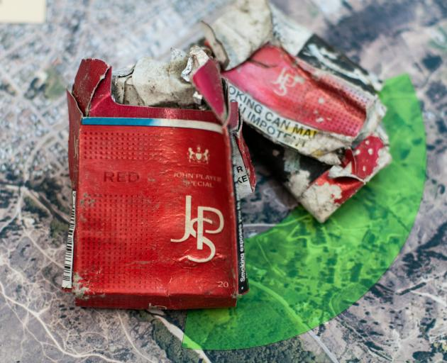 These cigarette packets — the same brand Mr Bates smoked, were found during searches. PHOTO:...