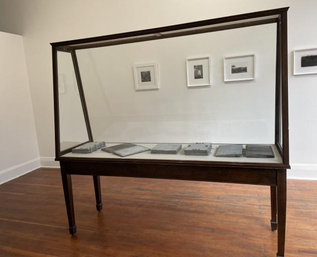 An installation shot from ''Engraved: your books, my photos''  by Jenny Hjertquist and Dallas...