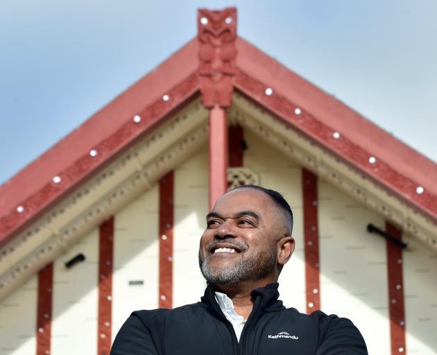 Fiji High Commissioner for Fiji Filimone Waqabaca stands outside Otakou Marae yesterday.