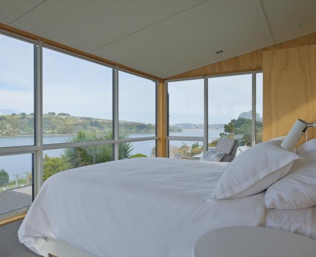 The mezzanine master suite enjoys panoramic views.