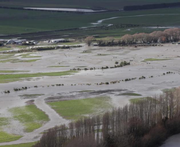 Flood affected areas around Ashburton. Photo: Pool / Stuff / Chris Skelton