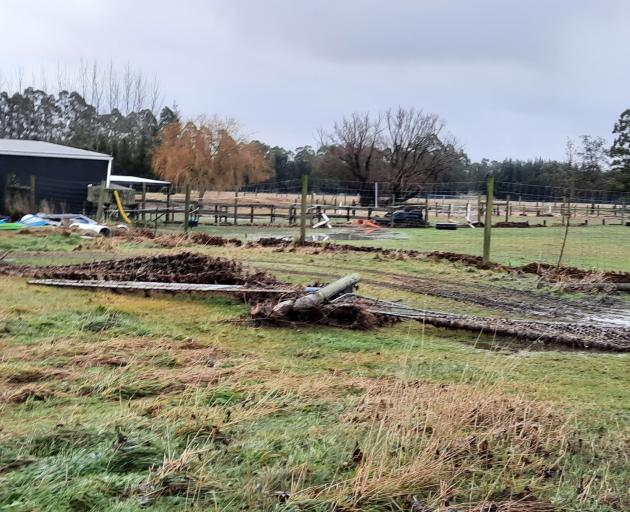 Damage to an Okuku property. PHOTO: SUPPLIED