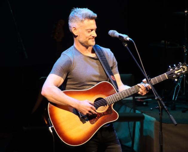 Queenstown musician Chad Robinson performs his MLT Songwriting Award song Alexandra Road at the...