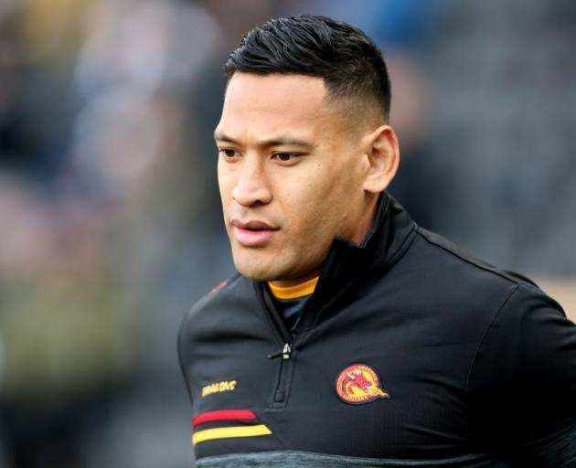 Israel Folau has been released from his French team. Photo: Getty Images