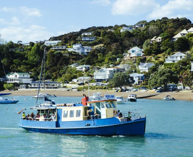 A ferry leaves Russell, heading for Paihia. Photo: Getty Images